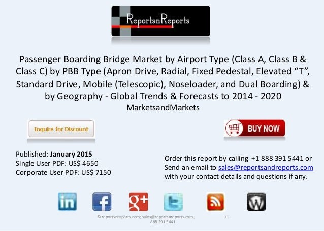 Passenger Boarding Bridge Market by Airport Type (Class A, Class B & Class C) by PBB Type (Apron Drive, Radial, Fixed Pede...