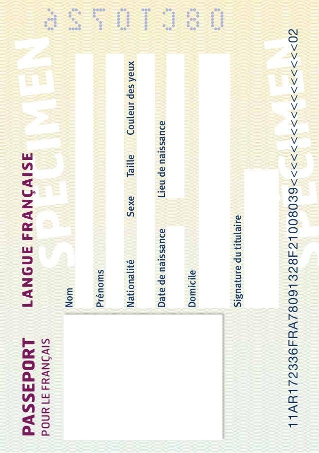 passeport pour le francais