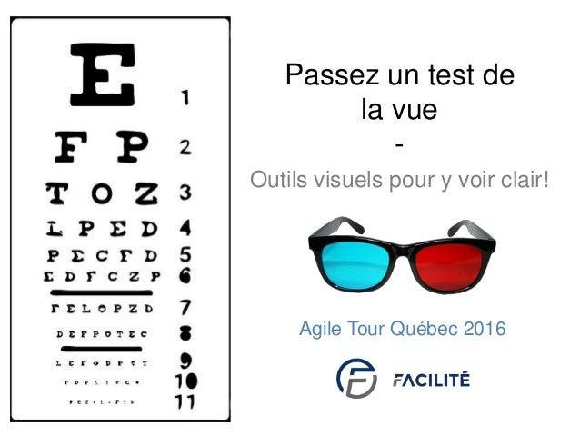 Outils visuels pour y voir clair! Passez un test de la vue - Agile Tour Québec 2016