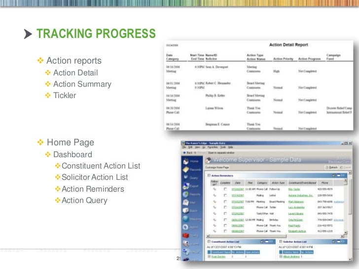Moves management in the raisers edge use dashboardsreports for actions and proposals 29 pronofoot35fo Choice Image