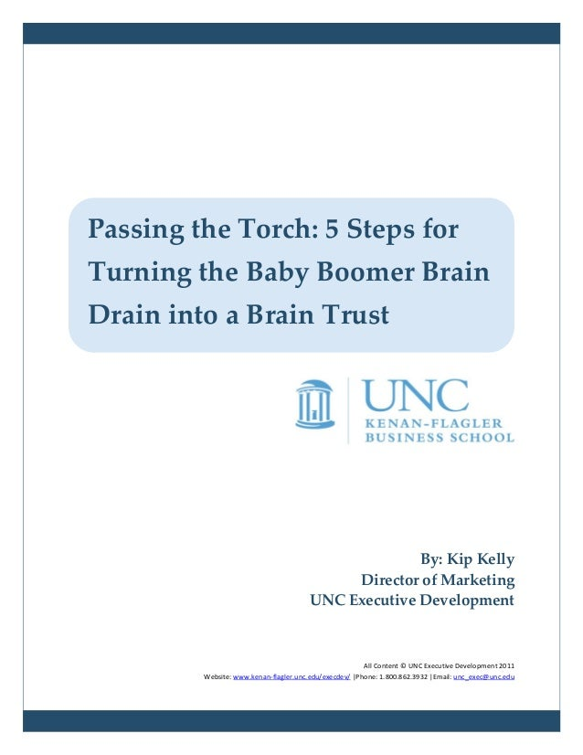 Passing the Torch: 5 Steps forTurning the Baby Boomer BrainDrain into a Brain Trust                                       ...