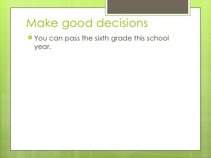 Passing 6th Grade