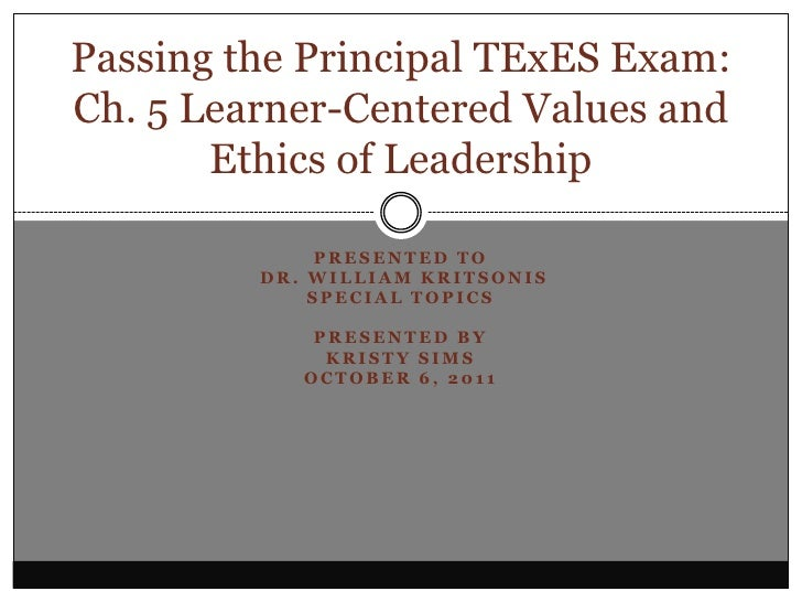 Presented to<br /> Dr. William Kritsonis<br />Special Topics<br />Presented By<br />Kristy Sims<br />October 6, 2011<br />...