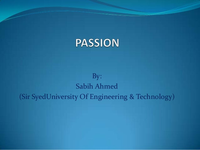 By: Sabih Ahmed (Sir SyedUniversity Of Engineering & Technology)