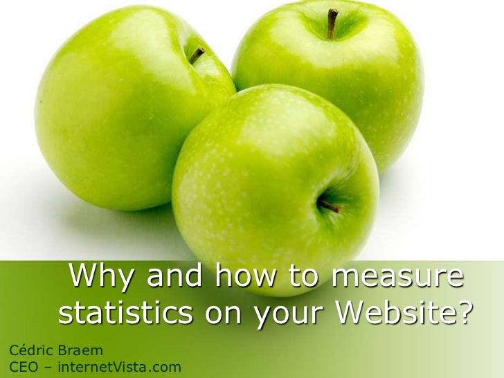 Why and how to measure statistics on your Website?<br />Cédric Braem<br />CEO – internetVista.com<br />