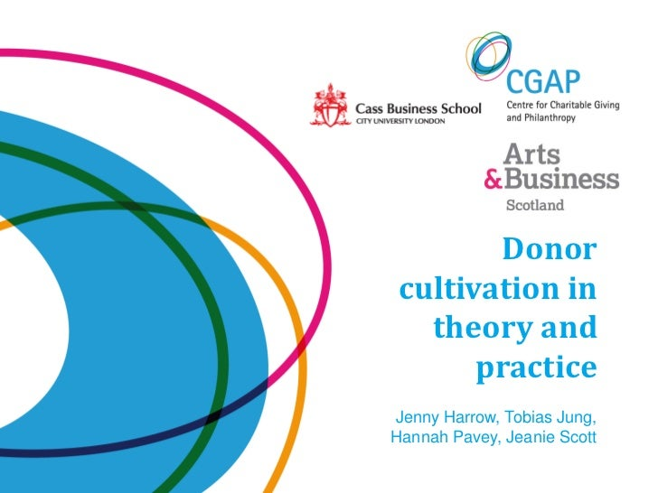 Donorcultivation in  theory and      practiceJenny Harrow, Tobias Jung,Hannah Pavey, Jeanie Scott