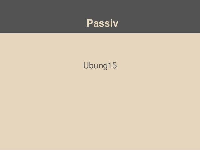 PassivUbung15