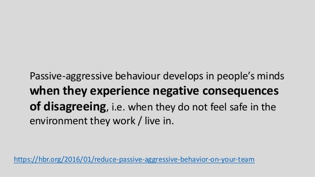 how to fix passive aggressive behavior