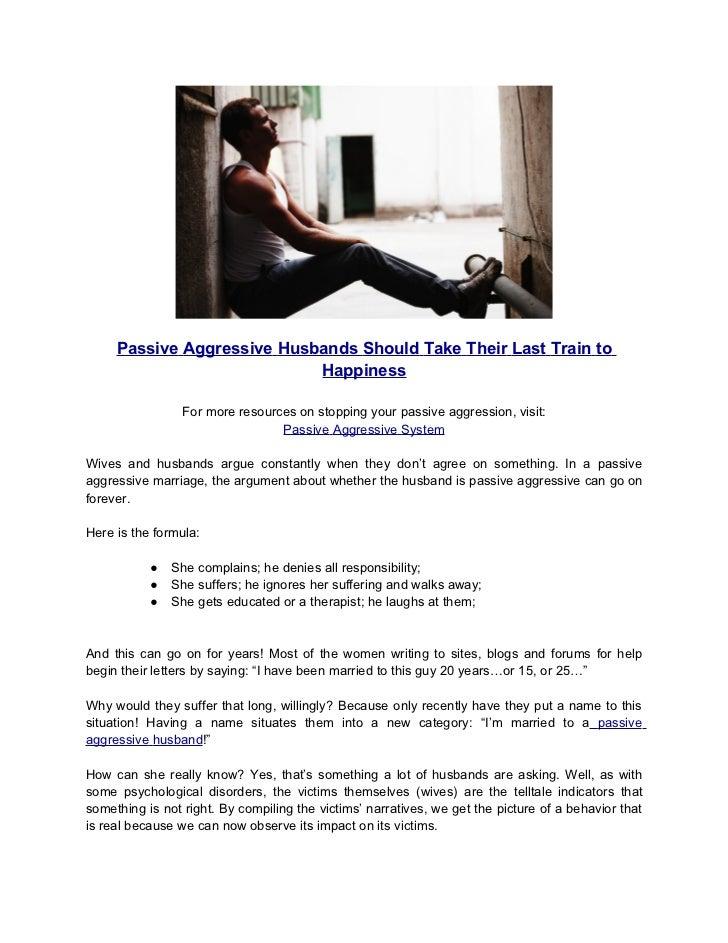 Passive aggressive wives