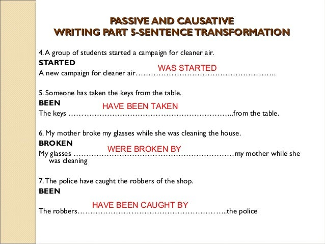 Passive and causative