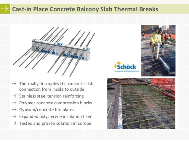Cast In Place Concrete Slabs : Optimizing concrete thermal bridges balcony and slab