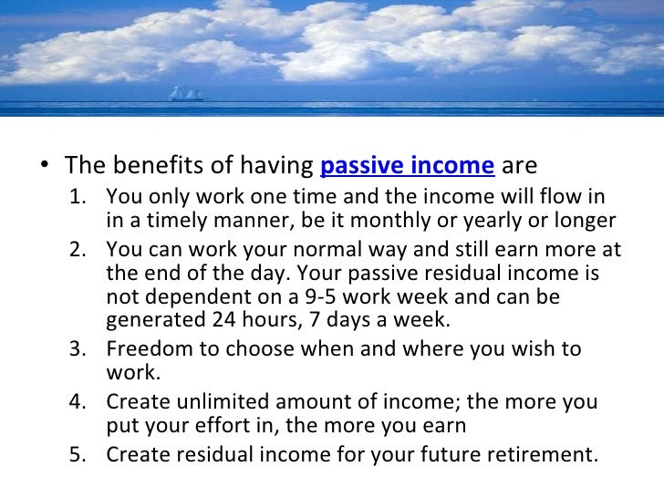 Passive Income ~ 5 Ways of Generating Passive Income (Part 1)