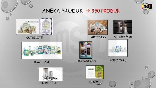 ANEKA PRODUK → 350 PRODUK NUTRILITE ARTISTRY Artistry Men HOME CARE Otomotif Care UKM BODY CARE HOME TECH 8