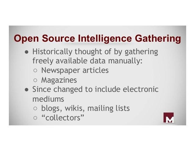 Passive Intelligence Gathering and Analytics - It's All Just Metadata!