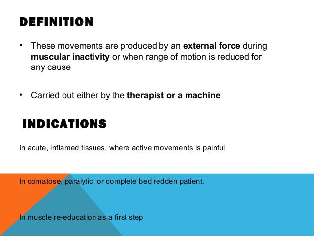 Passive movements Slide 2