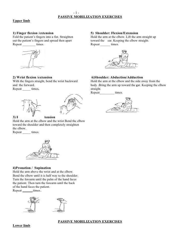 Passive Range Of Mobilization Exercises