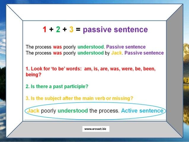 When Passive is Perfect Slide 3