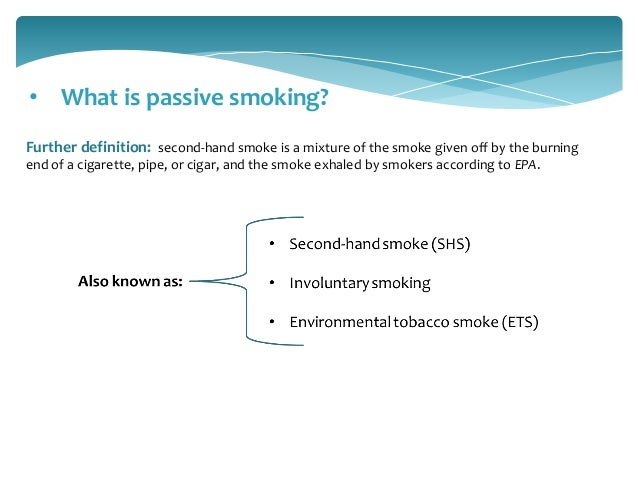 passive smoking in public places
