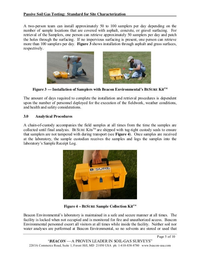 Passive Soil Gas Testing Standard For Site Characterization