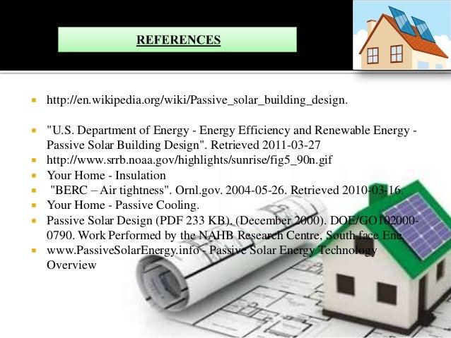 Passive solar buildings