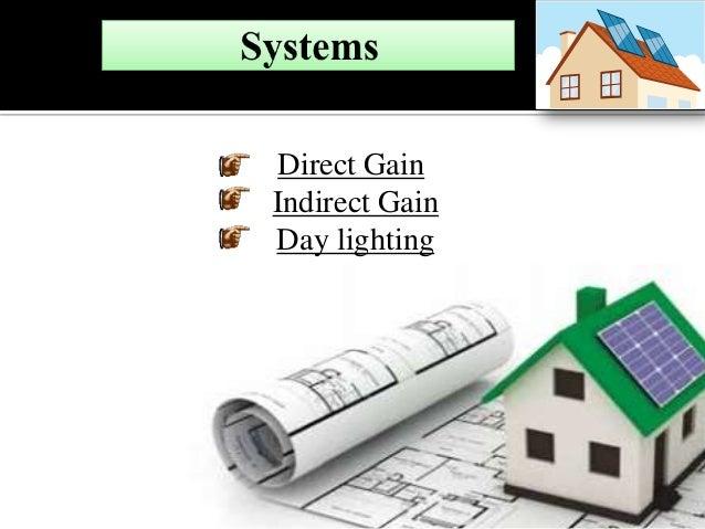 Direct Gain Indirect Gain Day lighting