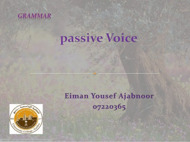 The aim of this presentation is to explain the concept of passive voice practically. The slides include, in order, the fol...