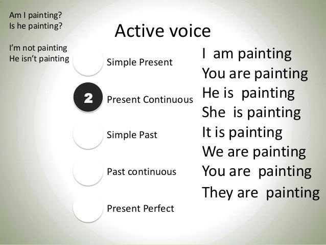 Passive voice and active voice. Slide 3