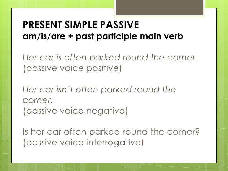 passive voice exercises pdf present simple