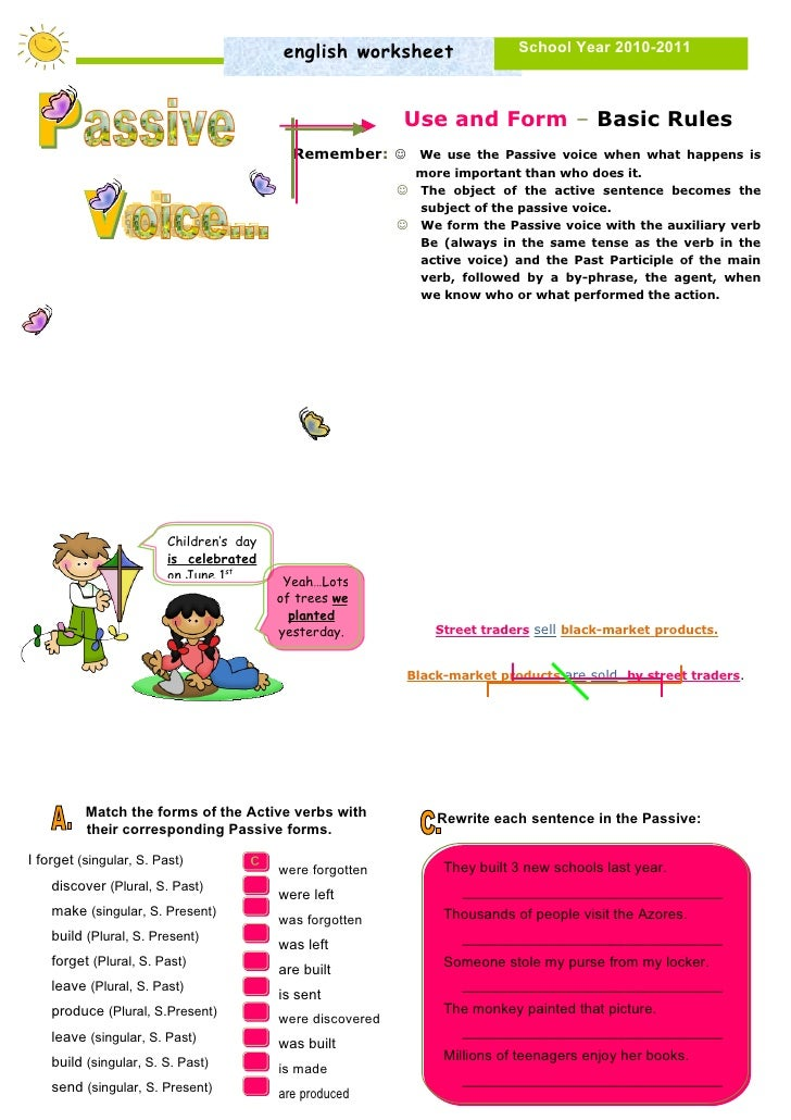 english worksheet                  School Year 2010-2011                                                                Us...