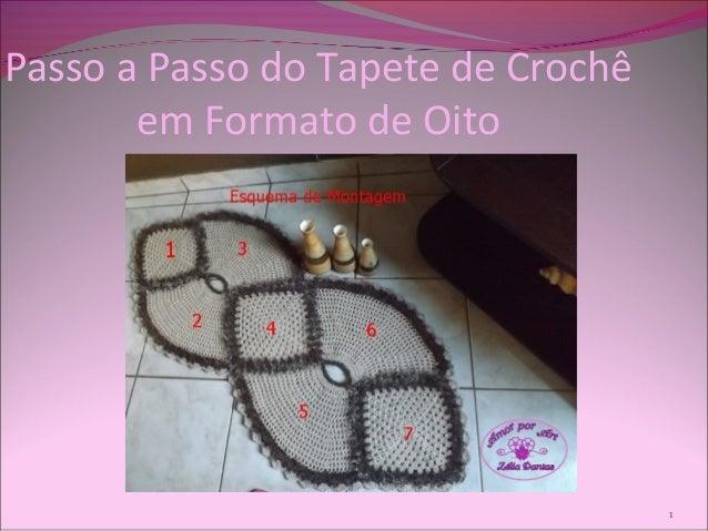 Passo a Passo do Tapete de Crochê em Formato de Oito 1