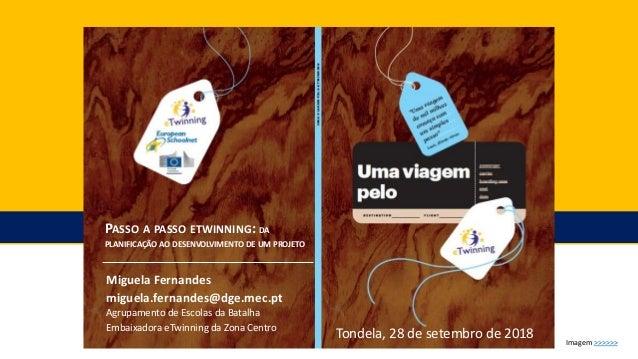 PASSO A PASSO ETWINNING: DA PLANIFICAÇÃO AO DESENVOLVIMENTO DE UM PROJETO Miguela Fernandes miguela.fernandes@dge.mec.pt A...