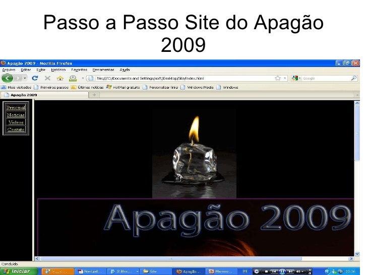 Passo a Passo Site do Apagão 2009