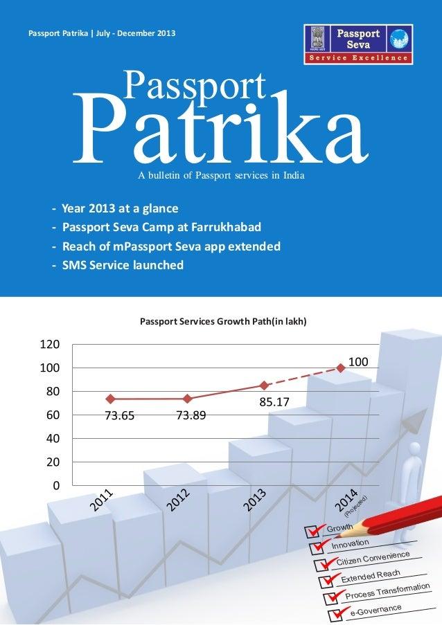 Innovation Citizen Convenience Extended Reach Process Transformation e-Governance Growth Passport Patrika | July - Decembe...