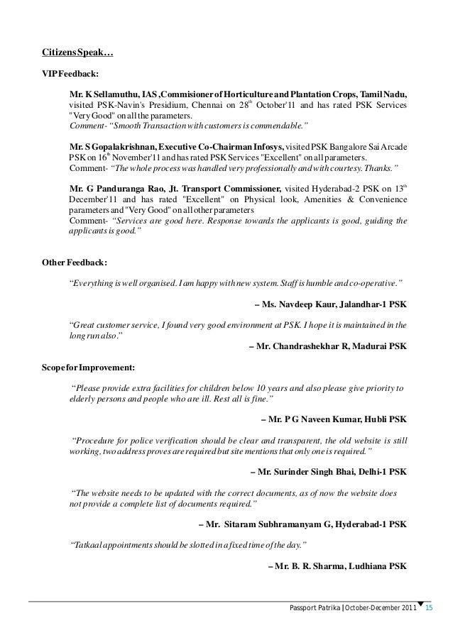 Passport Patrika | October - December 2011