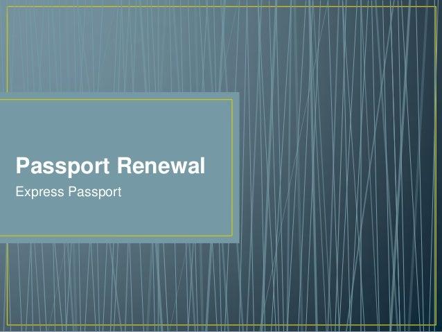Passport Renewal Express Passport