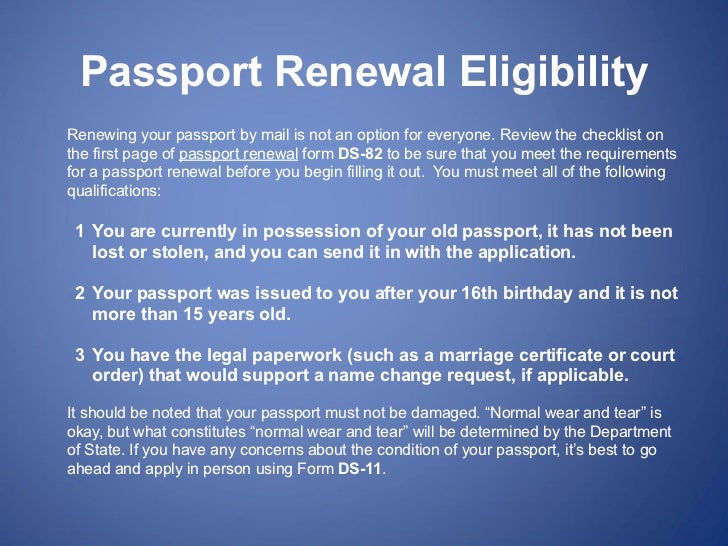 Passport Renewal Forms  What You Need To Know
