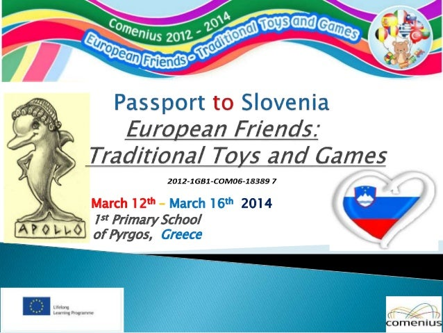 March 12th – March 16th 2014 1st Primary School of Pyrgos, Greece