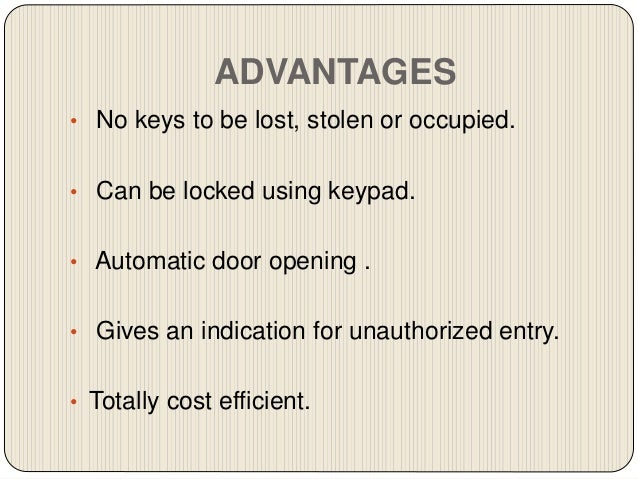 Password Based Door Locking System