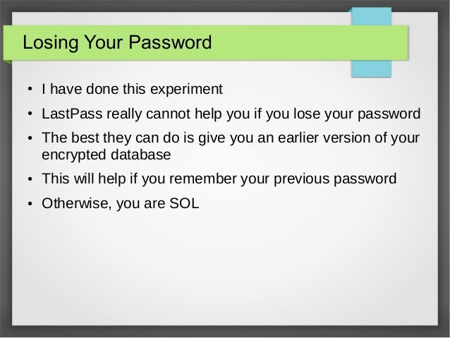 Password best practices and the last pass hack