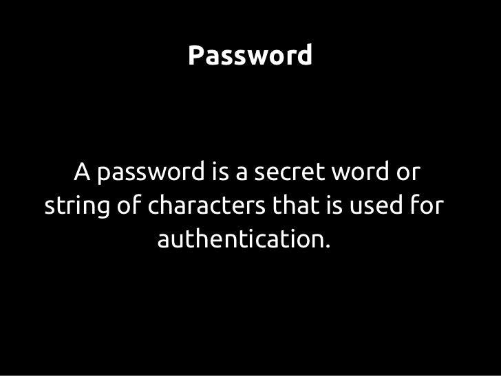 Password (in)security Slide 3