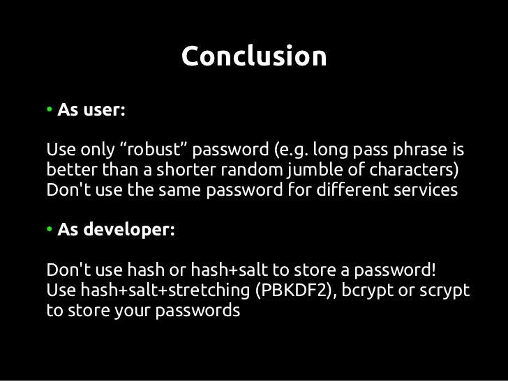 References●    Colin Percival, Stronger Key Derivation via Sequential    Memory-Hard Functions, presented at BSDCan09, May...