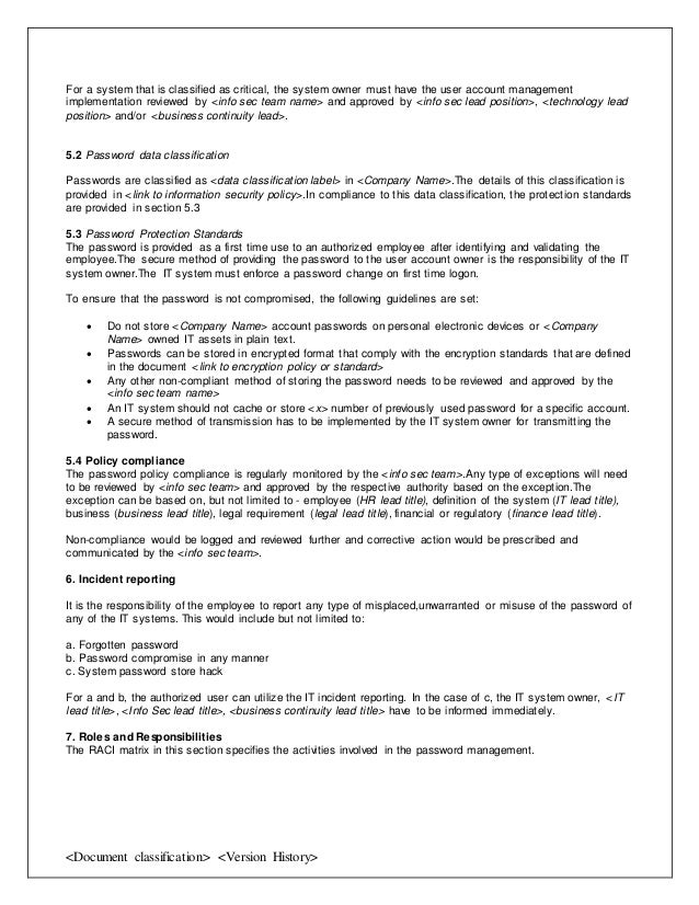 It Policy Template. 60 hr policy templates hr templates free ...