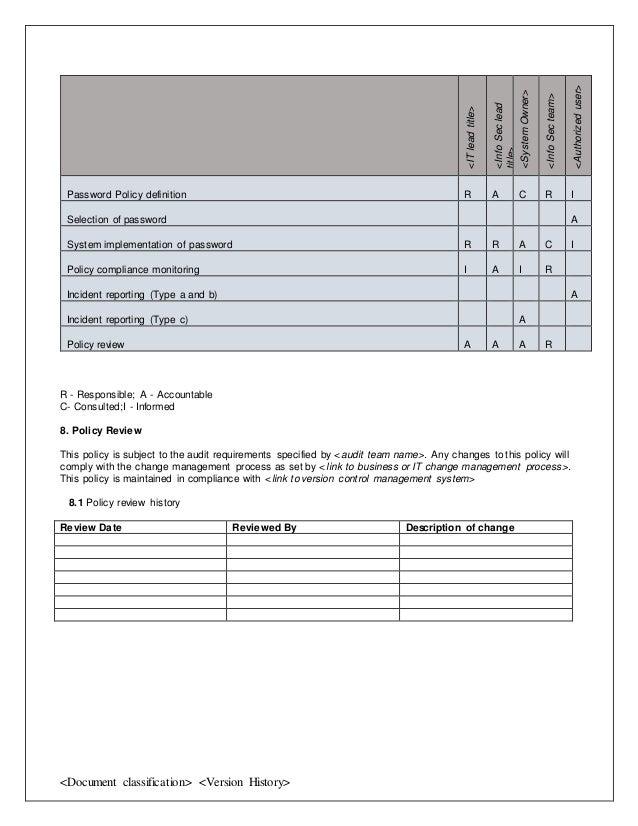 Password policy template 3 maxwellsz