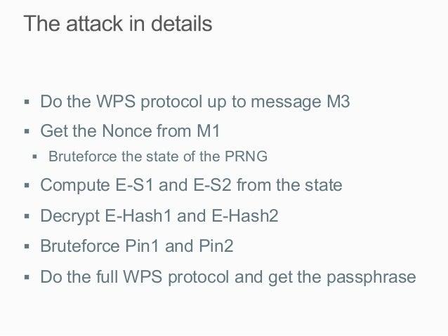 Offline bruteforce attack on WiFi Protected Setup