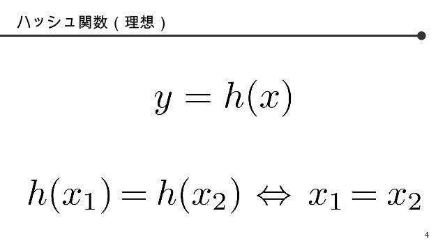 ハッシュ関数(理想)  4