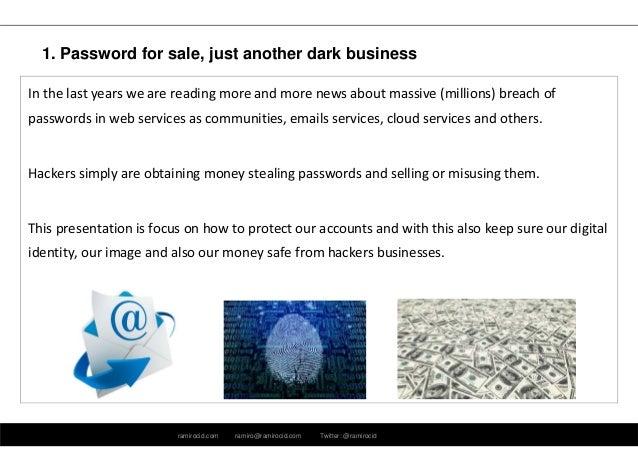 Passwords for sale Slide 3