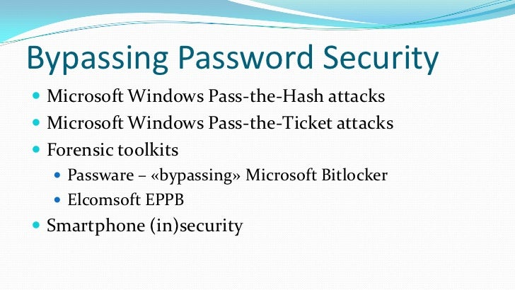Passwords & security