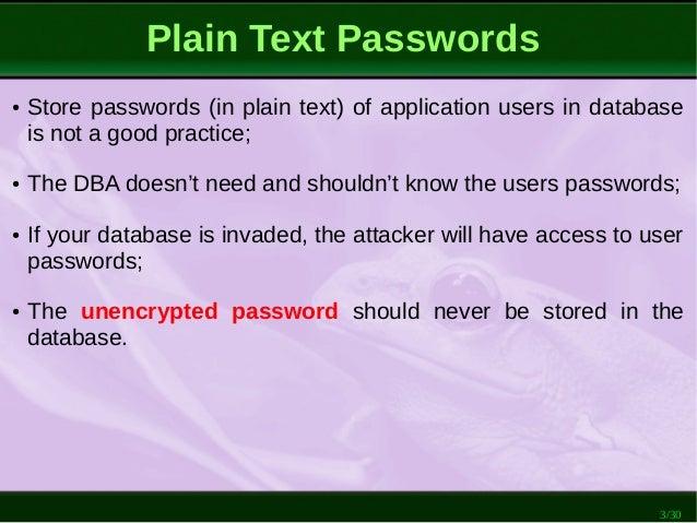 PostgreSQL: How to Store Passwords Safely Slide 3