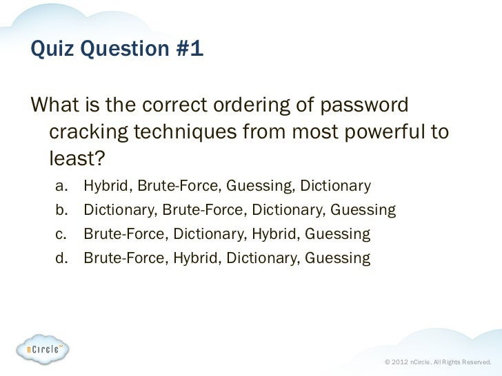 Password War Games Webinar