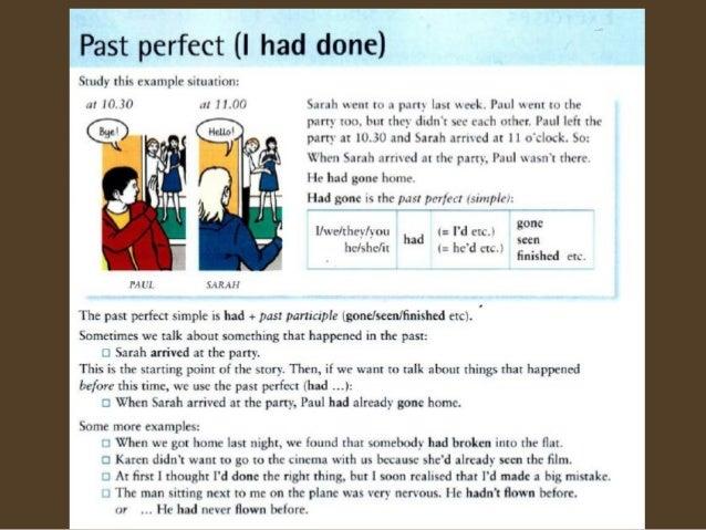 Past perfect (GIU)